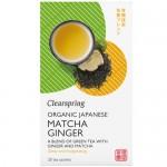 Πράσινο Τσάι με Τζίντζερ & Matcha (20φκλ) Clearspring