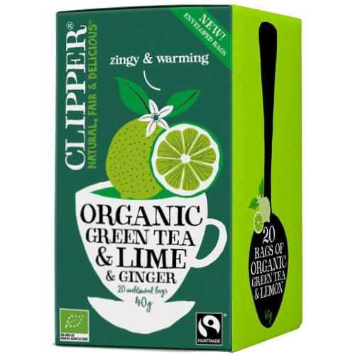 Πράσινο Τσάι με Τζίντζερ & Λάιμ (20 φκλ) Clipper