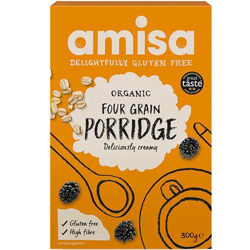 Ποριτζ 4 Δημητριακών - Χωρίς Γλουτένη (300gr) Amisa