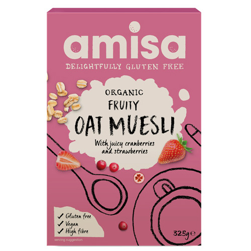 Μούσλι Βρώμης Με Φρούτα Χωρίς Γλουτένη (325gr) Amisa