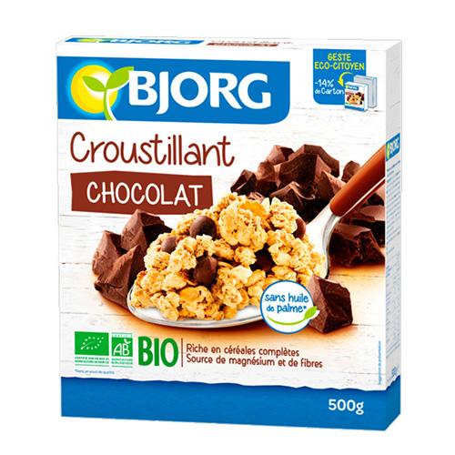Δημητριακά Βρώμης με Μαύρη Σοκολάτα Crunchy (500γρ) Bjorg