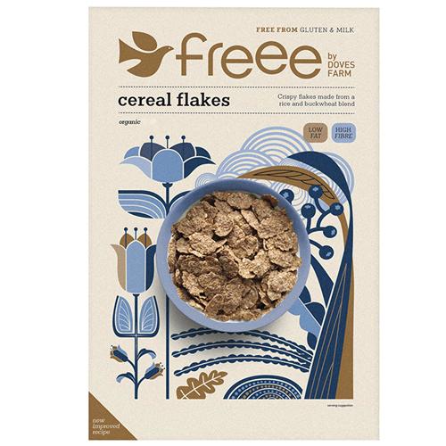 Νιφάδες με Ρύζι και Φαγόπυρο Xωρίς Γλουτένη (375γρ) Freee by Doves Farm