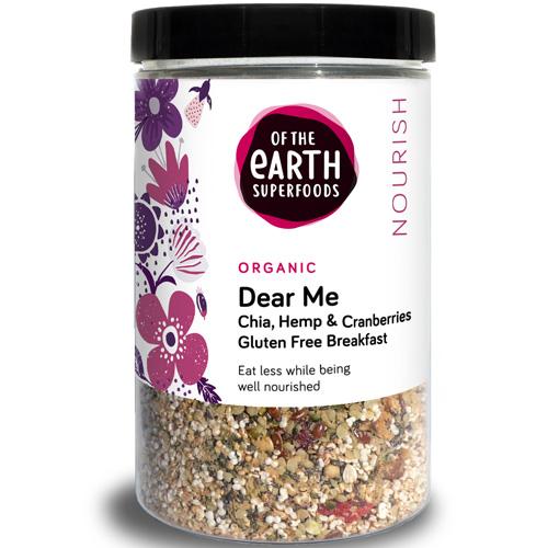 Πρωινό Dear Me! Χωρίς Δημητριακά με Chia, Σπόρους Κάνναβης, Goji & Κράνμπερι (200γρ) Of the Earth
