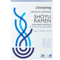Ράμεν Νουντλς σε Σούπα με Σάλτσα Σόγιας (2x105gr) Clearspring
