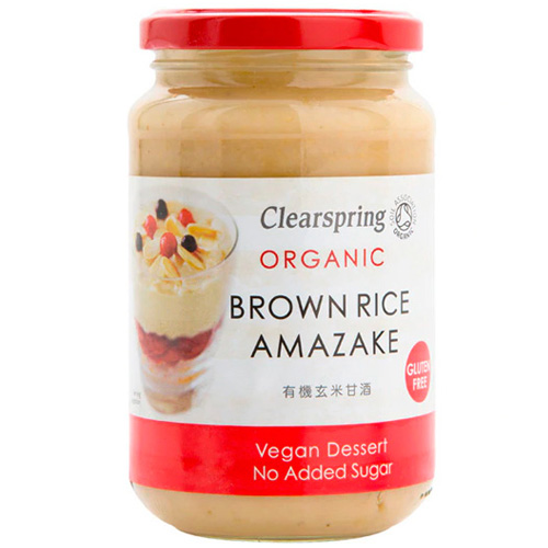 Vegan Επιδόρπιο Amazake - Κρέμα Καστανού Ρυζιού (380γρ) Clearspring