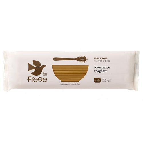 Σπαγγέτι από Καστανό Ρύζι Ολικής (500γρ) Freee by Doves Farm