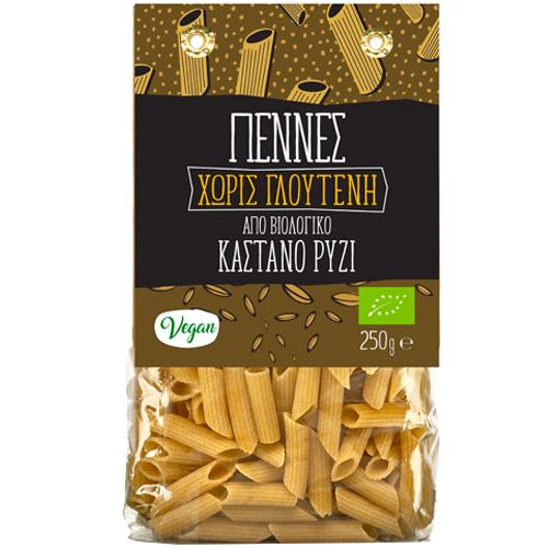Πέννες από Καστανό Ρύζι - Χωρίς Γλουτένη (250γρ) Green Bay