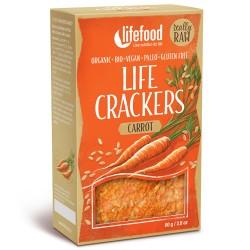 Raw Vegan Κράκερς Καρότου (80γρ) Lifefood