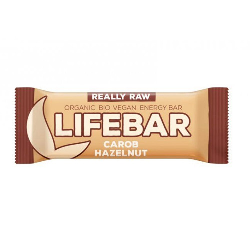 Μπάρα Ενέργειας με Χαρούπι + Φουντούκι Lifebar (47γρ) Lifefood