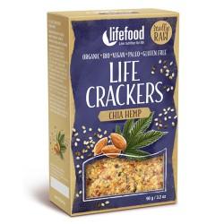 Raw Vegan Κράκερς με Chia και Σπόρους Κάνναβης (90γρ) Lifefood