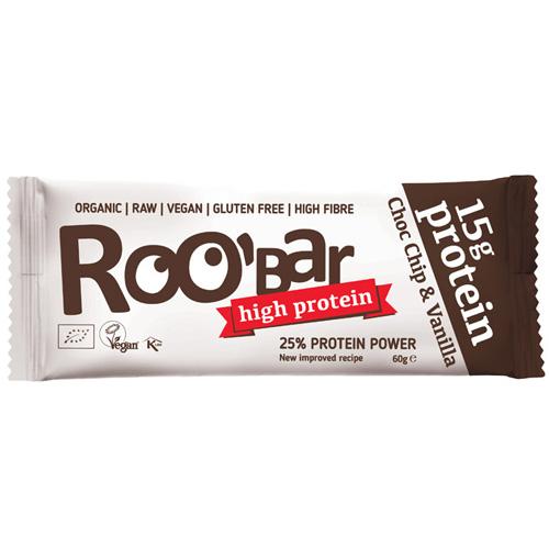 Ωμή Vegan Μπάρα Πρωτεΐνης με Σοκολάτα & Βανίλια (60γρ) Roobar