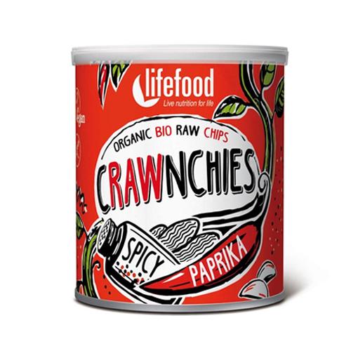 """Ωμά Τσιπς """"Crawnchies"""" με Πάπρικα & Λιαστή Ντομάτα (30γρ) Lifefood"""