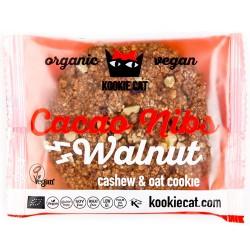 Vegan Μπισκότο Βρώμης-Κάσιους με Cacao Nibs & Καρύδια (50γρ) Kookie Cat