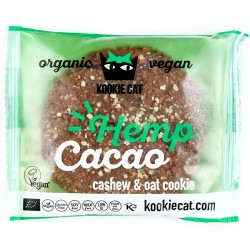Vegan Μπισκότο Βρώμης-Κάσιους με Κάνναβη & Κακάο (50γρ) Kookie Cat