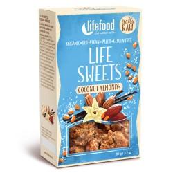 Ωμά Αμύγδαλα με Επικάλυψη Βανίλιας & Καρύδας (90γρ) Lifefood