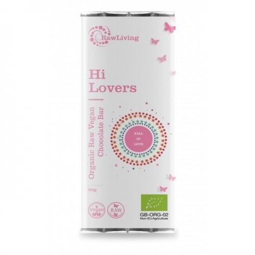 Raw Vegan Σοκολάτα 'Hi Lovers' με Maca & Shatavari (50γρ) Raw Living
