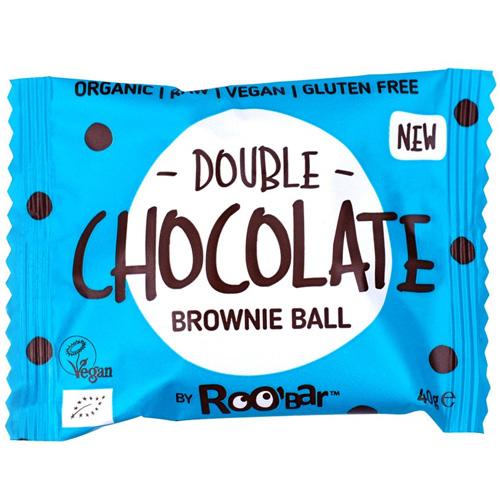 Vegan Μπαλίτσες Brownie με Διπλή Σοκολάτας (40γρ) Roobar
