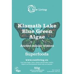 Άγρια Γαλαζοπράσινα Φύκια της λίμνης Klamath (50γρ) Raw Living